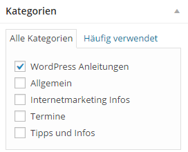 WordPress Kategorien