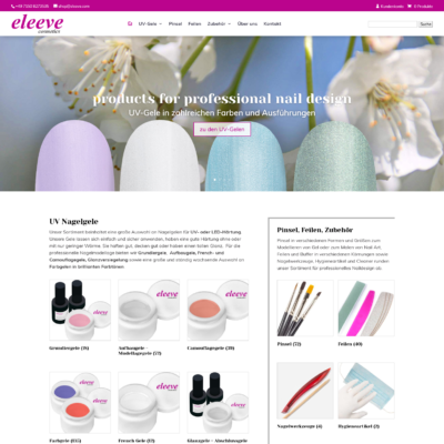 eleeve.com - products for professional nail design | Woocommerce Shop